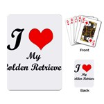 I Love My Golden Retriever Playing Cards Single Design