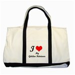 I Love My Golden Retriever Two Tone Tote Bag