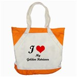 I Love My Golden Retriever Accent Tote Bag