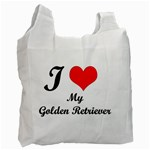 I Love My Golden Retriever Recycle Bag (One Side)