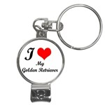 I Love Golden Retriever Nail Clippers Key Chain