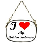 I Love Golden Retriever Chain Purse (One Side)