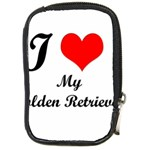 I Love Golden Retriever Compact Camera Leather Case