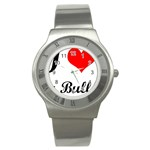 I-Love-My-Bulldog Stainless Steel Watch