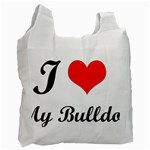 I-Love-My-Bulldog Recycle Bag (One Side)