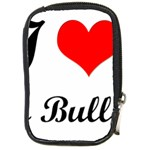 I-Love-My-Bulldog Compact Camera Leather Case