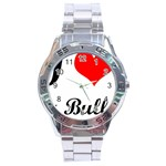 I-Love-My-Bulldog Stainless Steel Analogue Men's Watch