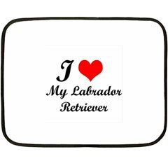 I Love My Labrador Retriever Mini Fleece Blanket(Two Sides) from ArtsNow.com 35 x27  Blanket Front