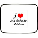 I Love My Labrador Retriever Mini Fleece Blanket(Two Sides) from ArtsNow.com 35 x27  Blanket Back