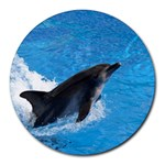 Swimming Dolphin Round Mousepad