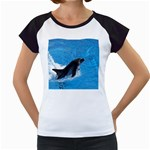 Swimming Dolphin Women s Cap Sleeve T