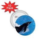 Swimming Dolphin 1.75  Button (10 pack)