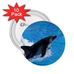 Swimming Dolphin 2.25  Button (10 pack)
