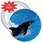 Swimming Dolphin 3  Button (10 pack)