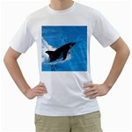 Swimming Dolphin White T-Shirt