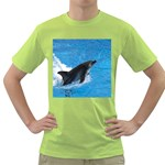 Swimming Dolphin Green T-Shirt