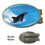 Swimming Dolphin Money Clip (Oval)