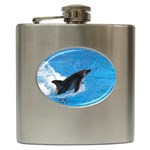 Swimming Dolphin Hip Flask (6 oz)