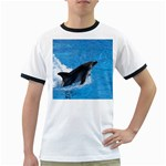 Swimming Dolphin Ringer T