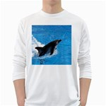 Swimming Dolphin Long Sleeve T-Shirt