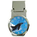 Swimming Dolphin Money Clip Watch