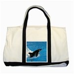 Swimming Dolphin Two Tone Tote Bag