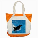 Swimming Dolphin Accent Tote Bag
