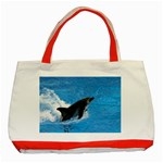 Swimming Dolphin Classic Tote Bag (Red)