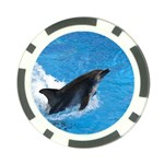 Swimming Dolphin Poker Chip Card Guard