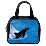 Swimming Dolphin Classic Handbag (One Side)