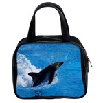 Swimming Dolphin Classic Handbag (Two Sides)
