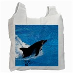 Swimming Dolphin Recycle Bag (One Side)