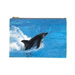 Swimming Dolphin Cosmetic Bag (Large)