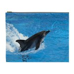 Swimming Dolphin Cosmetic Bag (XL)
