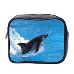 Swimming Dolphin Mini Toiletries Bag (Two Sides)