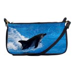 Swimming Dolphin Shoulder Clutch Bag
