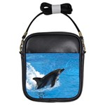 Swimming Dolphin Girls Sling Bag