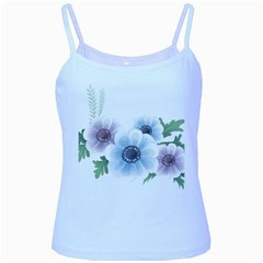 Flower028 Baby Blue Spaghetti Tank from ArtsNow.com Front
