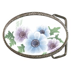 Flower028 Belt Buckle from ArtsNow.com Front