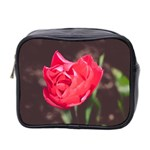 Red flower Mini Toiletries Bag (Two Sides)