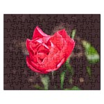 Red flower Jigsaw Puzzle (Rectangular)