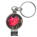 Red flower Nail Clippers Key Chain