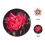 Red flower Playing Cards (Round)