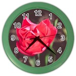 Red flower Color Wall Clock
