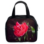 Red flower Classic Handbag (Two Sides)