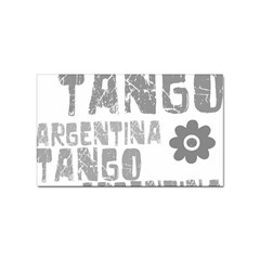 Argentina tango Sticker Rectangular (100 pack) from ArtsNow.com Front