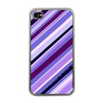 Purple Stripe Apple iPhone 4 Case (Clear)