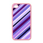 Purple Stripe Apple iPhone 4 Case (Color)