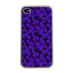 Purple Leaf Apple iPhone 4 Case (Clear)