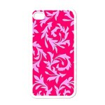 Pink Leaf Apple iPhone 4 Case (White)